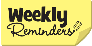 Image result for Weekly reminders