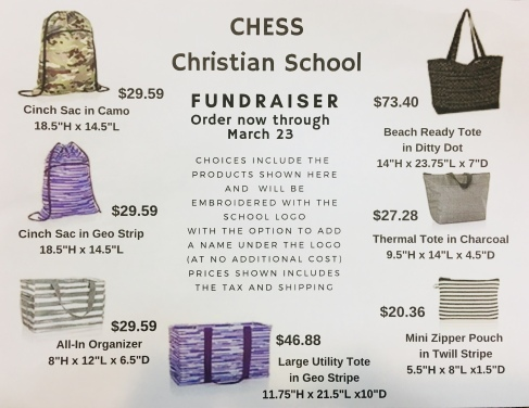 Prom Fundraiser Thirty One Bags Chess Christian School